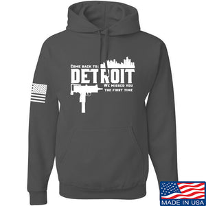 Men of Arms Apparel Detroit Hoodie Hoodies Small / Light Grey by Ballistic Ink - Made in America USA