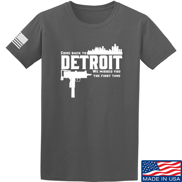Men of Arms Apparel Detroit T-Shirt T-Shirts Small / Charcoal by Ballistic Ink - Made in America USA