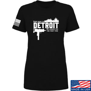 Men of Arms Apparel Ladies Detroit T-Shirt T-Shirts SMALL / Navy by Ballistic Ink - Made in America USA