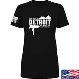 Men of Arms Apparel Ladies Detroit T-Shirt T-Shirts SMALL / Black by Ballistic Ink - Made in America USA
