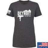 Men of Arms Apparel Ladies Detroit T-Shirt T-Shirts SMALL / Charcoal by Ballistic Ink - Made in America USA