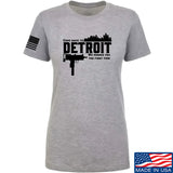 Men of Arms Apparel Ladies Detroit T-Shirt T-Shirts SMALL / Light Grey by Ballistic Ink - Made in America USA