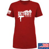 Men of Arms Apparel Ladies Detroit T-Shirt T-Shirts SMALL / Red by Ballistic Ink - Made in America USA