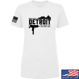 Men of Arms Apparel Ladies Detroit T-Shirt T-Shirts SMALL / White by Ballistic Ink - Made in America USA