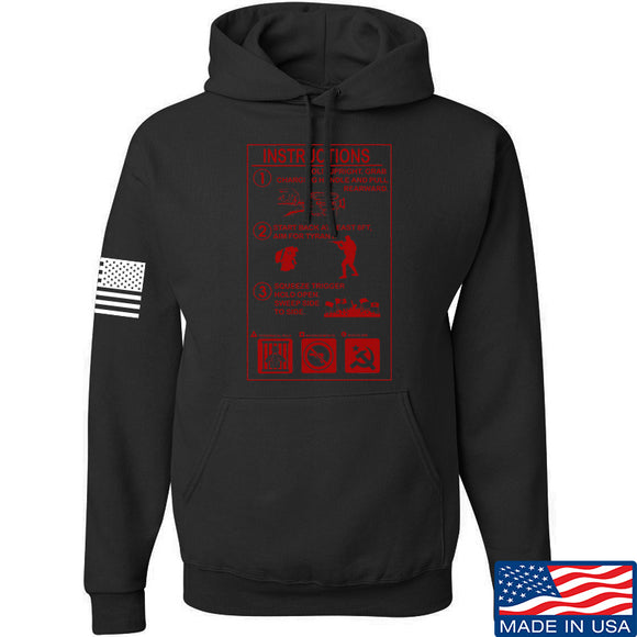 Men of Arms Apparel Extinguisher Instructions Hoodie Hoodies Small / Black by Ballistic Ink - Made in America USA