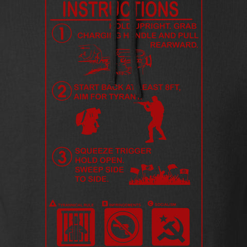 Men of Arms Apparel Extinguisher Instructions Hoodie Hoodies [variant_title] by Ballistic Ink - Made in America USA