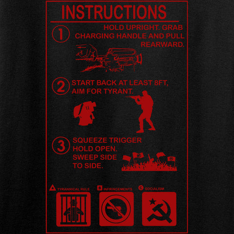 Men of Arms Apparel Extinguisher Instructions T-Shirt T-Shirts [variant_title] by Ballistic Ink - Made in America USA