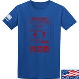 Men of Arms Apparel Extinguisher Instructions T-Shirt T-Shirts Small / Blue by Ballistic Ink - Made in America USA