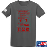 Men of Arms Apparel Extinguisher Instructions T-Shirt T-Shirts Small / Charcoal by Ballistic Ink - Made in America USA