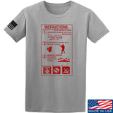 Men of Arms Apparel Extinguisher Instructions T-Shirt T-Shirts Small / Light Grey by Ballistic Ink - Made in America USA