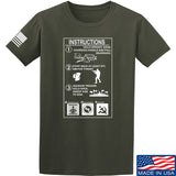 Men of Arms Apparel Extinguisher Instructions T-Shirt T-Shirts Small / Military Green by Ballistic Ink - Made in America USA