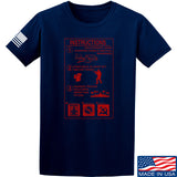 Men of Arms Apparel Extinguisher Instructions T-Shirt T-Shirts Small / Navy by Ballistic Ink - Made in America USA