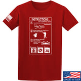 Men of Arms Apparel Extinguisher Instructions T-Shirt T-Shirts Small / Red by Ballistic Ink - Made in America USA