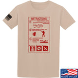 Men of Arms Apparel Extinguisher Instructions T-Shirt T-Shirts Small / Sand by Ballistic Ink - Made in America USA