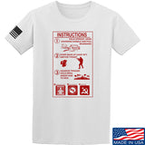 Men of Arms Apparel Extinguisher Instructions T-Shirt T-Shirts Small / White by Ballistic Ink - Made in America USA