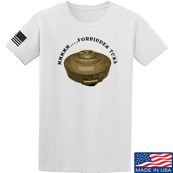 Men of Arms Apparel Forbidden Tuna T-Shirt T-Shirts Small / White by Ballistic Ink - Made in America USA
