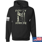 Men of Arms Apparel Fowty Fowlife Benjamin Hoodie Hoodies Small / Black by Ballistic Ink - Made in America USA