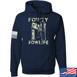 Men of Arms Apparel Fowty Fowlife Benjamin Hoodie Hoodies Small / Navy by Ballistic Ink - Made in America USA