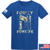 Men of Arms Apparel Fowty Fowlife Benjamin T-Shirt T-Shirts Small / Blue by Ballistic Ink - Made in America USA