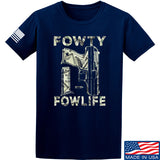 Men of Arms Apparel Fowty Fowlife Benjamin T-Shirt T-Shirts Small / Navy by Ballistic Ink - Made in America USA