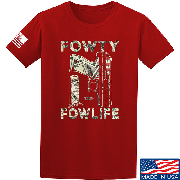 Men of Arms Apparel Fowty Fowlife Benjamin T-Shirt T-Shirts Small / Red by Ballistic Ink - Made in America USA