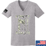 Men of Arms Apparel Ladies Fowty Fowlife Benjamin V-Neck T-Shirts, V-Neck SMALL / Light Grey by Ballistic Ink - Made in America USA