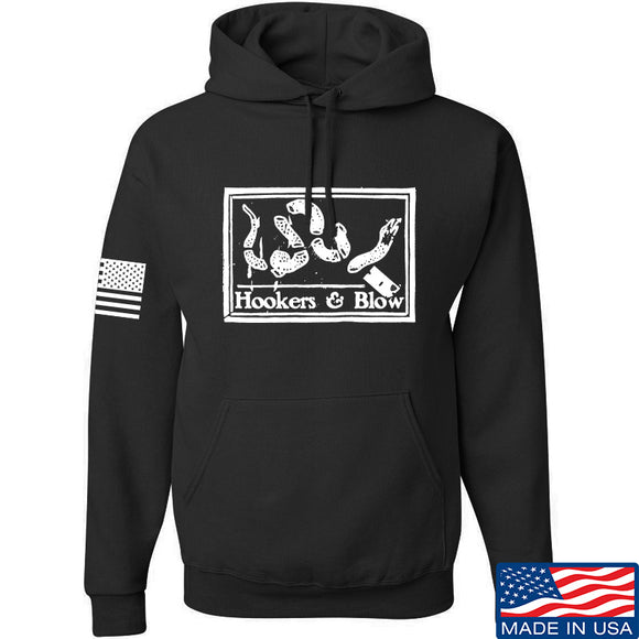 Men of Arms Apparel Hookers And Blow Hoodie Hoodies Small / Black by Ballistic Ink - Made in America USA