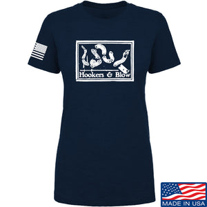 Men of Arms Apparel Ladies Hookers And Blow T-Shirt T-Shirts SMALL / Navy by Ballistic Ink - Made in America USA