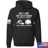 Men of Arms Apparel In Case Of Gun Ban Hoodie Hoodies Small / Black by Ballistic Ink - Made in America USA