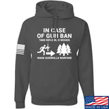 Men of Arms Apparel In Case Of Gun Ban Hoodie Hoodies Small / Charcoal by Ballistic Ink - Made in America USA