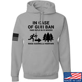 Men of Arms Apparel In Case Of Gun Ban Hoodie Hoodies Small / Light Grey by Ballistic Ink - Made in America USA