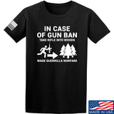 Men of Arms Apparel In Case Of Gun Ban T-Shirt T-Shirts Small / Black by Ballistic Ink - Made in America USA