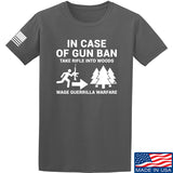 Men of Arms Apparel In Case Of Gun Ban T-Shirt T-Shirts Small / Charcoal by Ballistic Ink - Made in America USA
