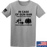Men of Arms Apparel In Case Of Gun Ban T-Shirt T-Shirts Small / Light Grey by Ballistic Ink - Made in America USA