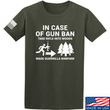Men of Arms Apparel In Case Of Gun Ban T-Shirt T-Shirts Small / Military Green by Ballistic Ink - Made in America USA
