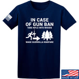 Men of Arms Apparel In Case Of Gun Ban T-Shirt T-Shirts Small / Navy by Ballistic Ink - Made in America USA