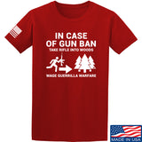 Men of Arms Apparel In Case Of Gun Ban T-Shirt T-Shirts Small / Red by Ballistic Ink - Made in America USA