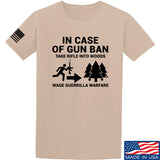 Men of Arms Apparel In Case Of Gun Ban T-Shirt T-Shirts Small / Sand by Ballistic Ink - Made in America USA