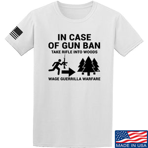 Men of Arms Apparel In Case Of Gun Ban T-Shirt T-Shirts Small / Blue by Ballistic Ink - Made in America USA