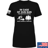 Men of Arms Apparel Ladies In Case Of Gun Ban T-Shirt T-Shirts SMALL / Black by Ballistic Ink - Made in America USA
