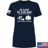 Men of Arms Apparel Ladies In Case Of Gun Ban T-Shirt T-Shirts SMALL / Navy by Ballistic Ink - Made in America USA