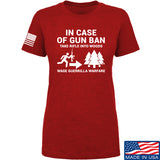 Men of Arms Apparel Ladies In Case Of Gun Ban T-Shirt T-Shirts SMALL / Red by Ballistic Ink - Made in America USA