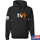 Men of Arms Apparel Irish Love Hoodie Hoodies Small / Black by Ballistic Ink - Made in America USA