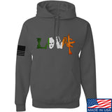 Men of Arms Apparel Irish Love Hoodie Hoodies Small / Charcoal by Ballistic Ink - Made in America USA