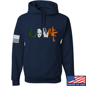 Men of Arms Apparel Irish Love Hoodie Hoodies Small / Light Grey by Ballistic Ink - Made in America USA