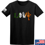 Men of Arms Apparel Irish Love T-Shirt T-Shirts Small / Black by Ballistic Ink - Made in America USA