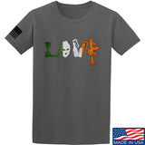 Men of Arms Apparel Irish Love T-Shirt T-Shirts Small / Charcoal by Ballistic Ink - Made in America USA