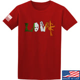 Men of Arms Apparel Irish Love T-Shirt T-Shirts Small / Red by Ballistic Ink - Made in America USA