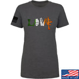 Men of Arms Apparel Ladies Irish Love T-Shirt T-Shirts SMALL / Charcoal by Ballistic Ink - Made in America USA
