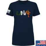 Men of Arms Apparel Ladies Irish Love T-Shirt T-Shirts SMALL / Navy by Ballistic Ink - Made in America USA